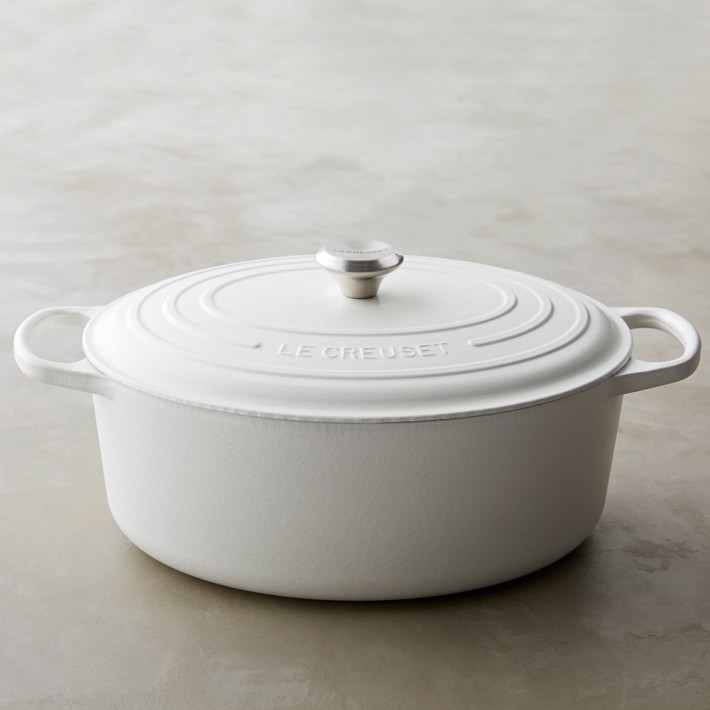 le creuset matte white dutch oven  williams-sonoma— 20% off