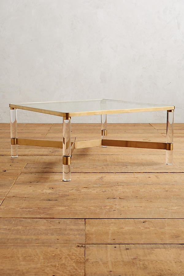oscarine lucite coffee table  anthropologie— extra 40% off  sale items