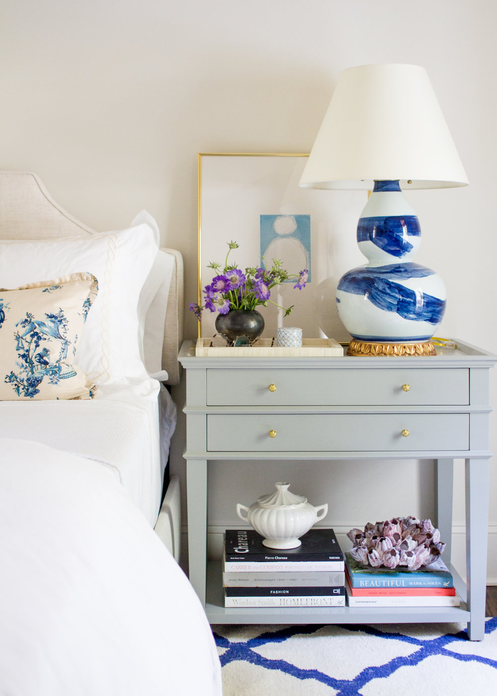 Grace Nightstand by Ballard Designs , art by  Kayce Hughes