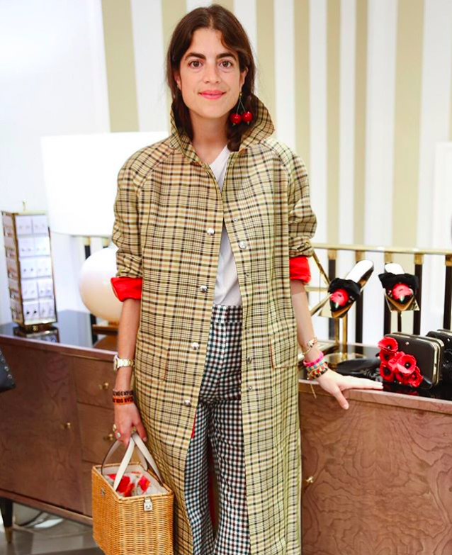 Leandra Cohen of Manrepeller at Kate Spade's store opening in Paris via  Instagram