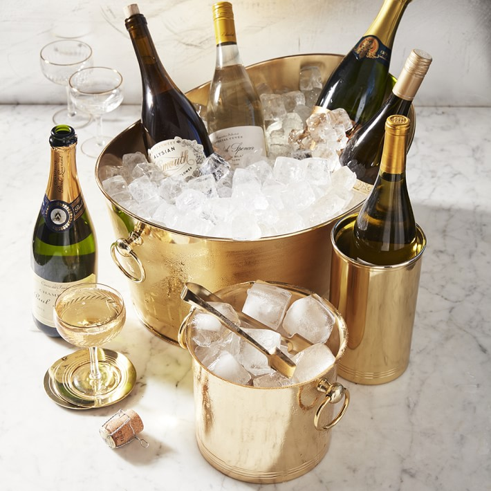 Williams Sonoma Gold Ice Bucket / Friday Favorites by Pencil & Paper Co.