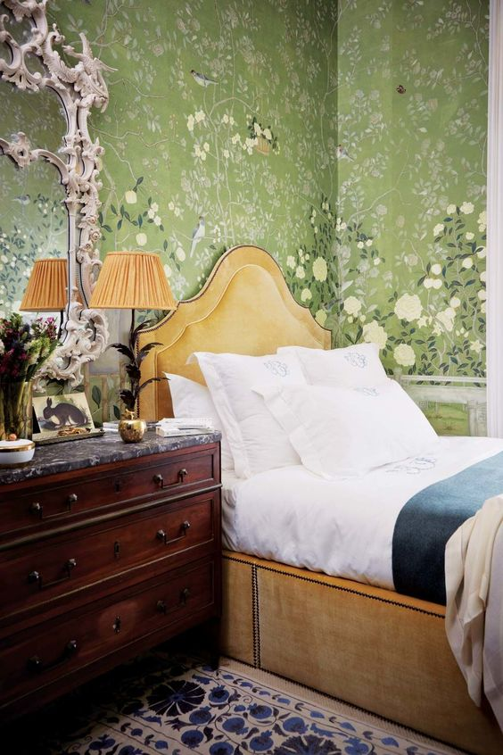 bedroom of rebecca cecil de gurney via  elle