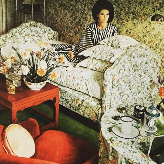 Louise Savitt in her bedroom. Photo by Horst P. Horst, 1965