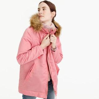 Pink Parka Jacket