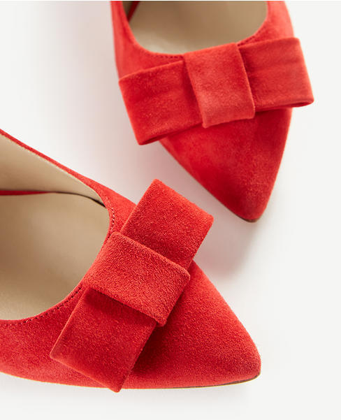 Jolene Suede Bow Pumps