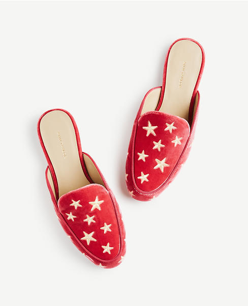 Karolina Star Velvet Loafers