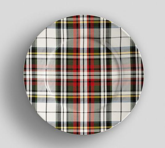 Denver Plaid Salad Plates