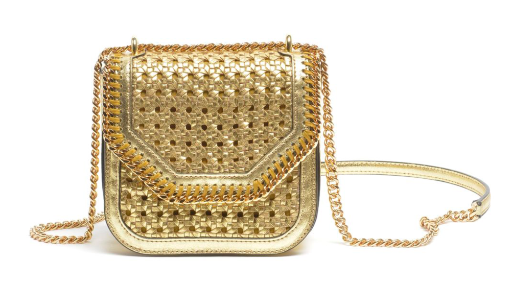 Metallic Wicker Shoulder Bag