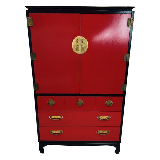 Lacquered Asian Style Dresser