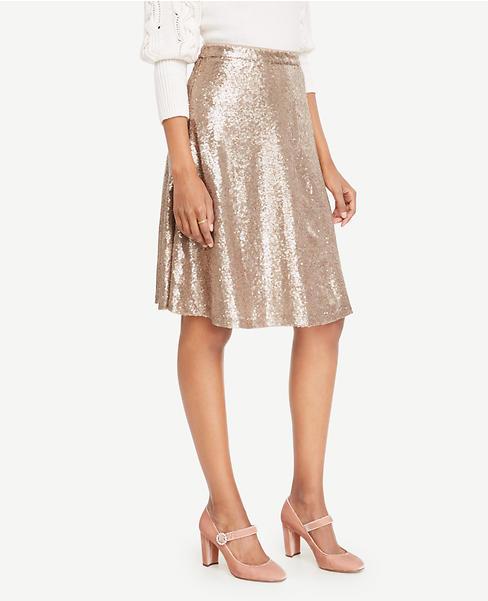 Sequin Flare Skirt