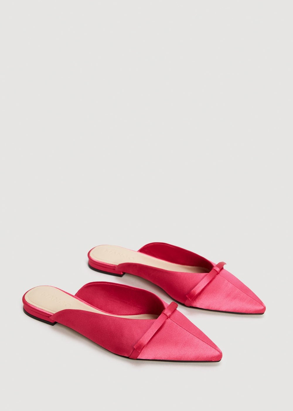 Bow Satin Mules