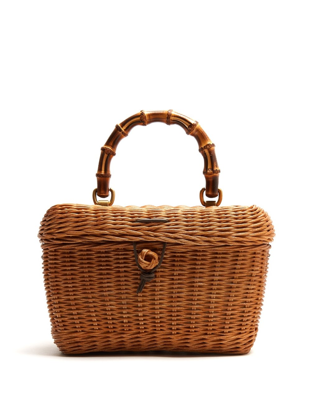 Cestino Bamboo-handle Wooden Bag