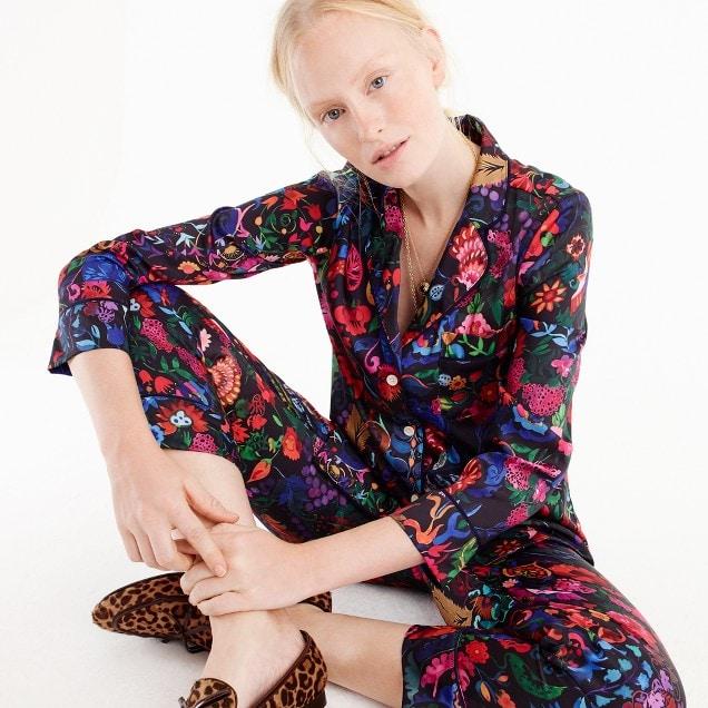 paisley floral pajamas