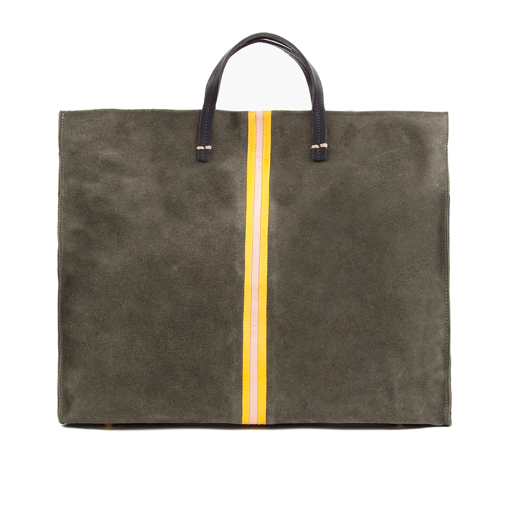 Simple-Tote---Army-Suede-w-Yellow-_-Blush-Nappa-Inlaid-Stripes---TT10060-1622----Front.png