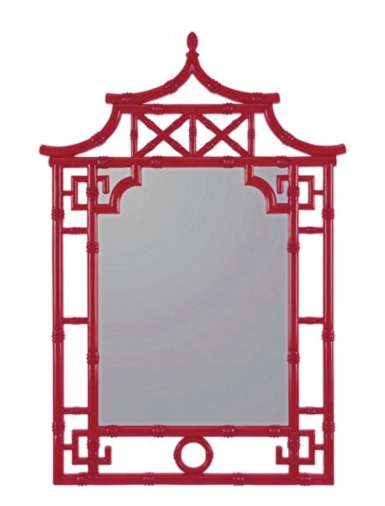 Red Pagoda Wall Mirror