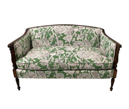 hickory chair settee in toile