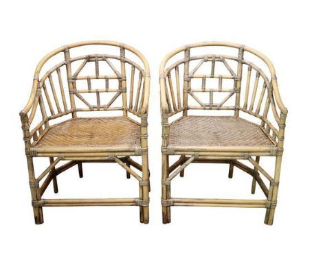 vintage bamboo chairs – a pair