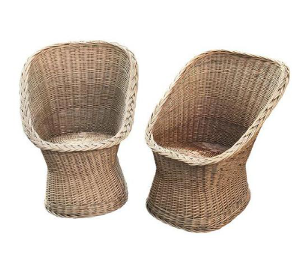 vintage wicker chairs – a pair