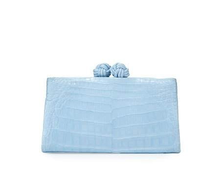 knot clutch with crossbody chain
