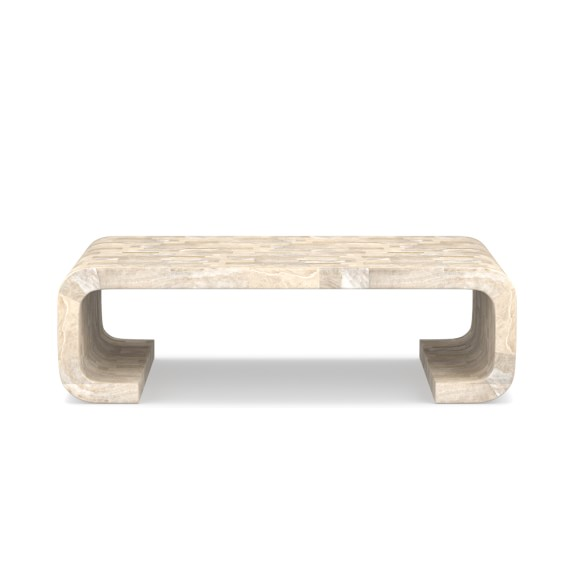 make a statement with this unique scroll coffee table. shop it here!