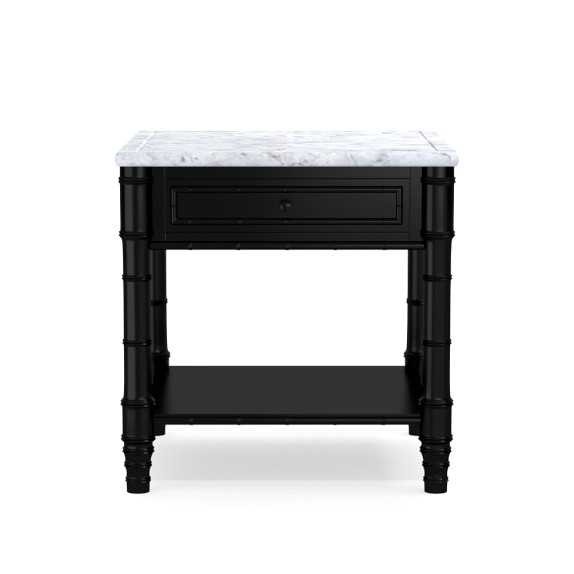 this chic marble-topped nightstand is on markdown – the perfect way to dress up any space!