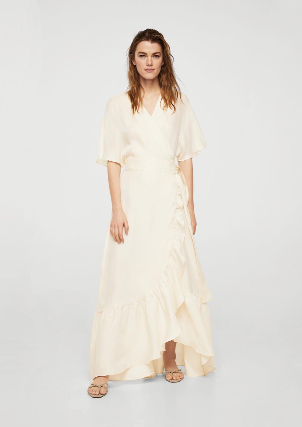 ruffle wrap dress – $149.99