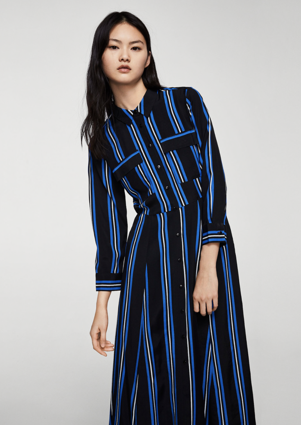 striped shirt dress – $79.99