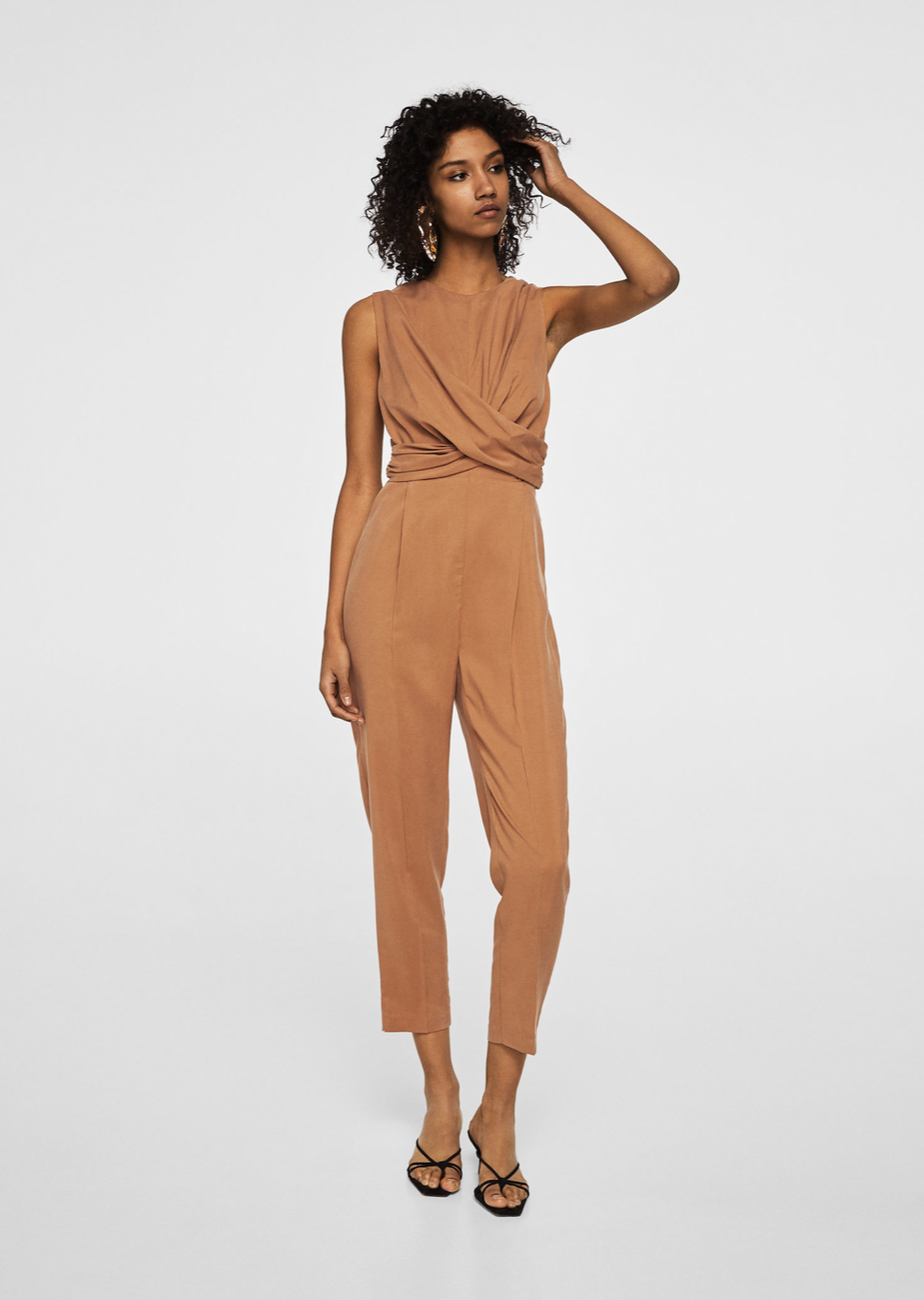 wrap neckline jumpsuit –$99.99