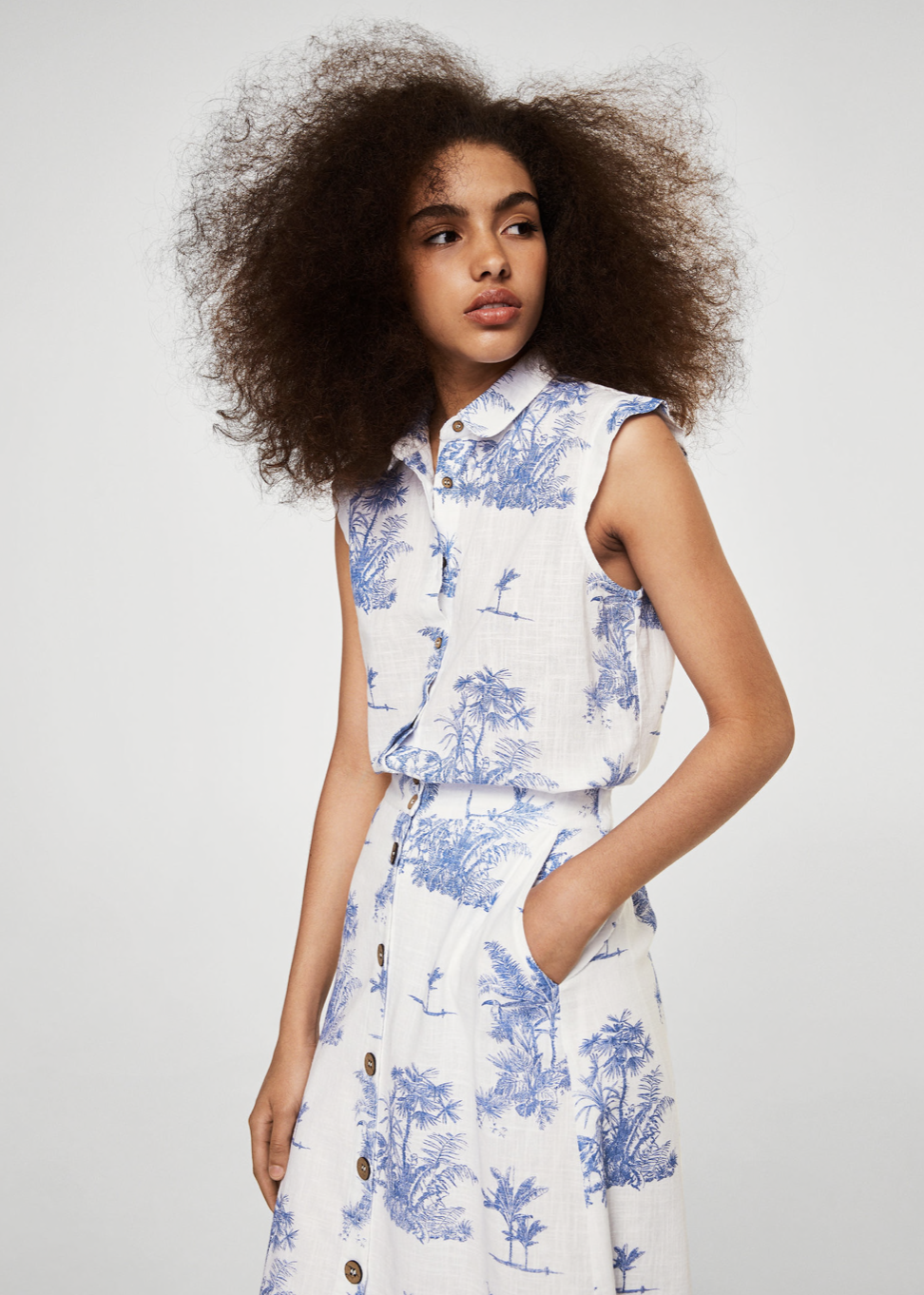 printed button skirt –$49.99