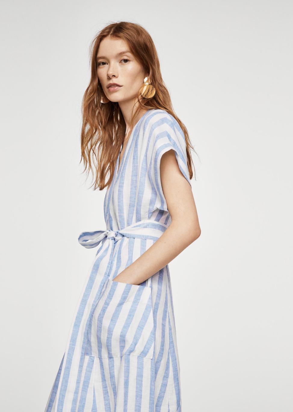 striped linen dress –$79.99