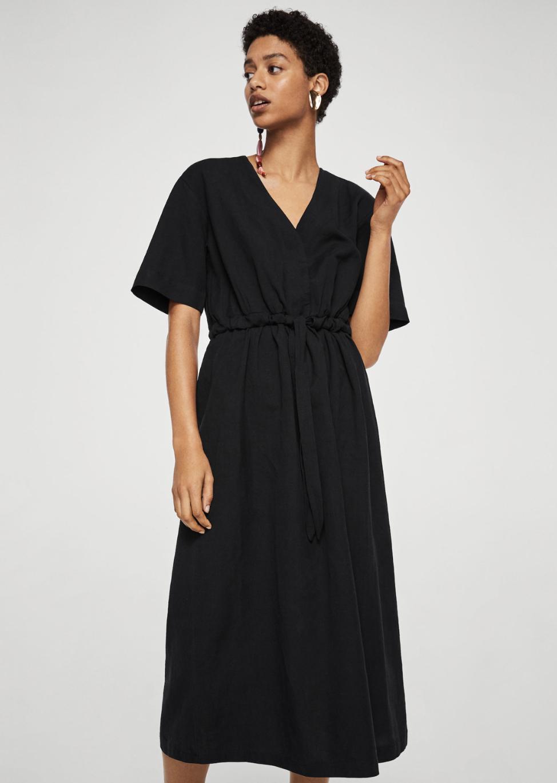 belt linen dress –$79.99