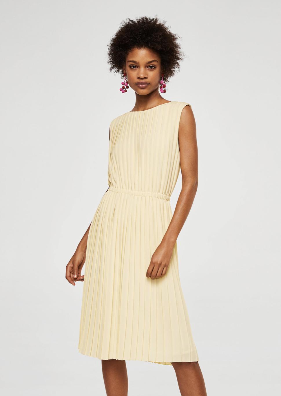 pleated midi dress –$99.99