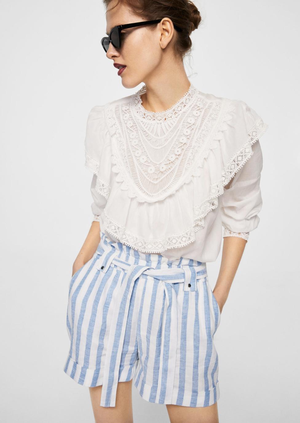 linen printed shorts –$49.99