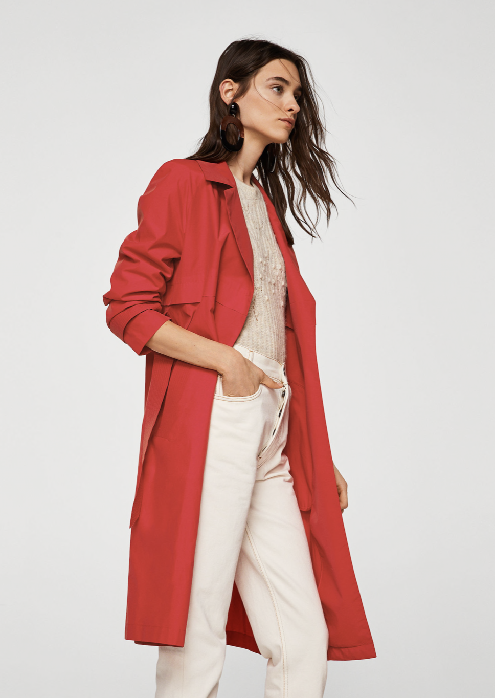 classic belted trench –$119.99
