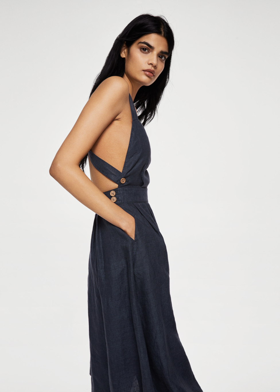 linen-blend midi dress – $99.99