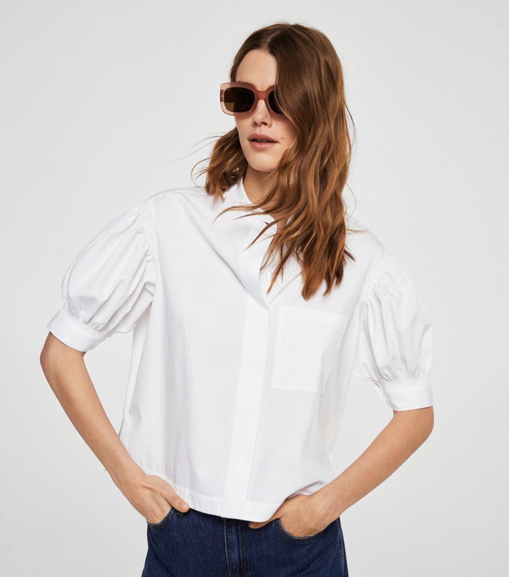 puffed sleeves poplin shirt – $49.99