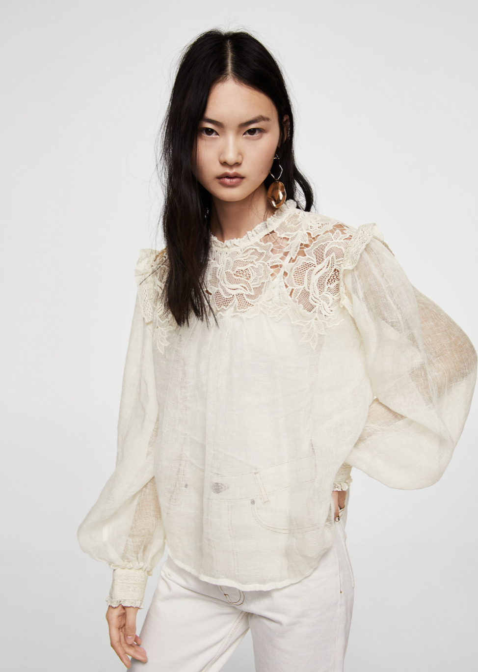 embroidered linen blouse –$99.99