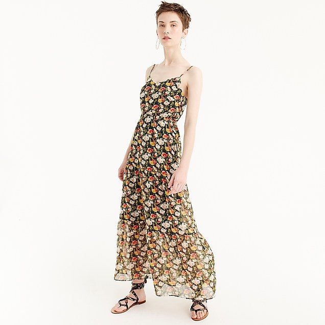 tiered maxi dress in sweet pea floral / j.crew