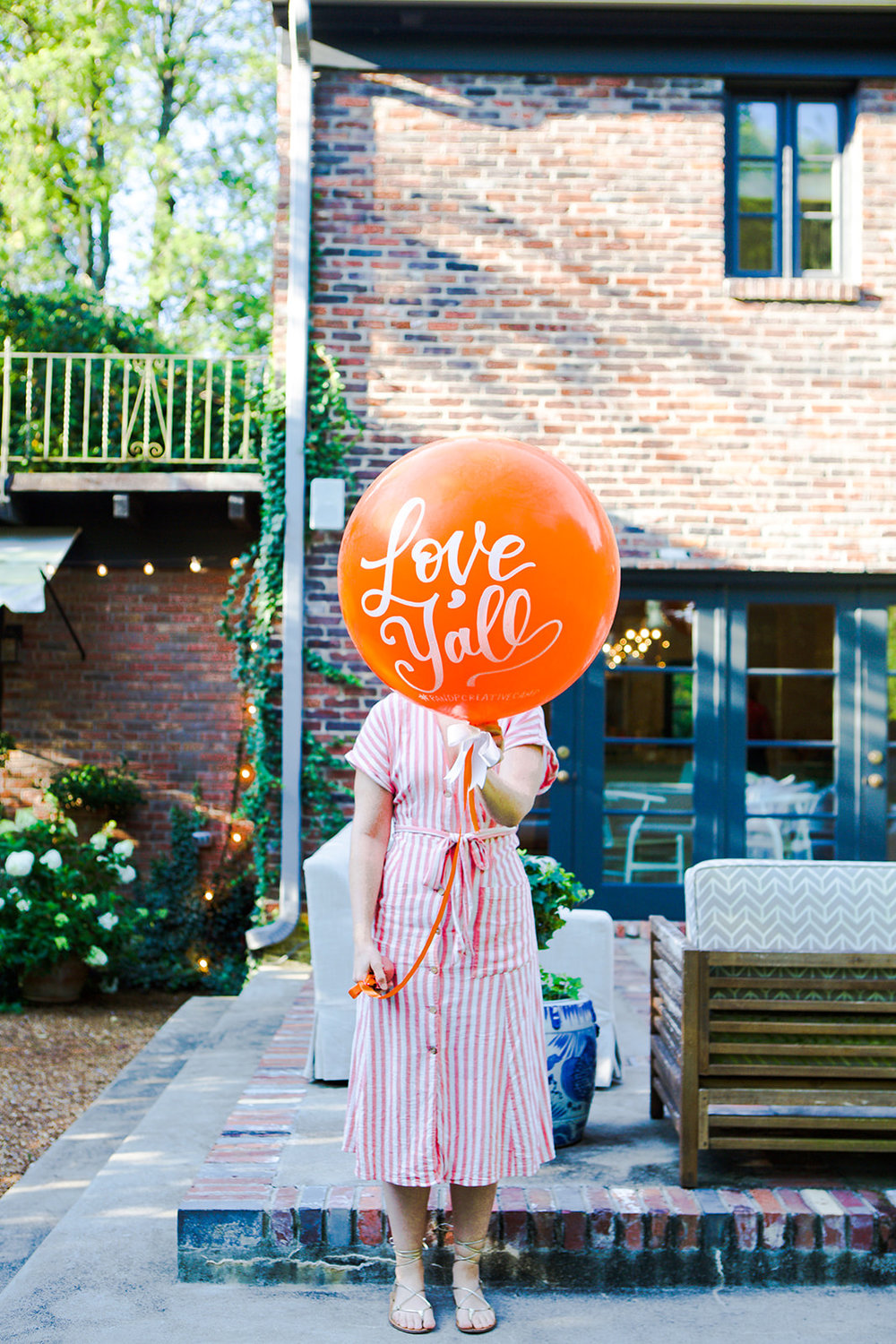 we adore the hand-lettered balloon from the talented mother-daughter duo at vroom vroom balloon!