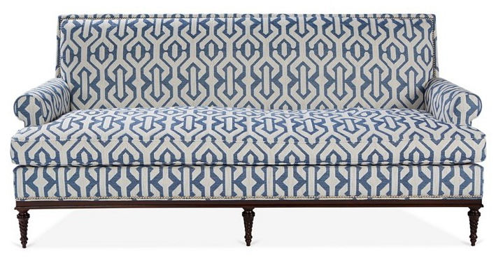 Shelley Sofa, Navy/White