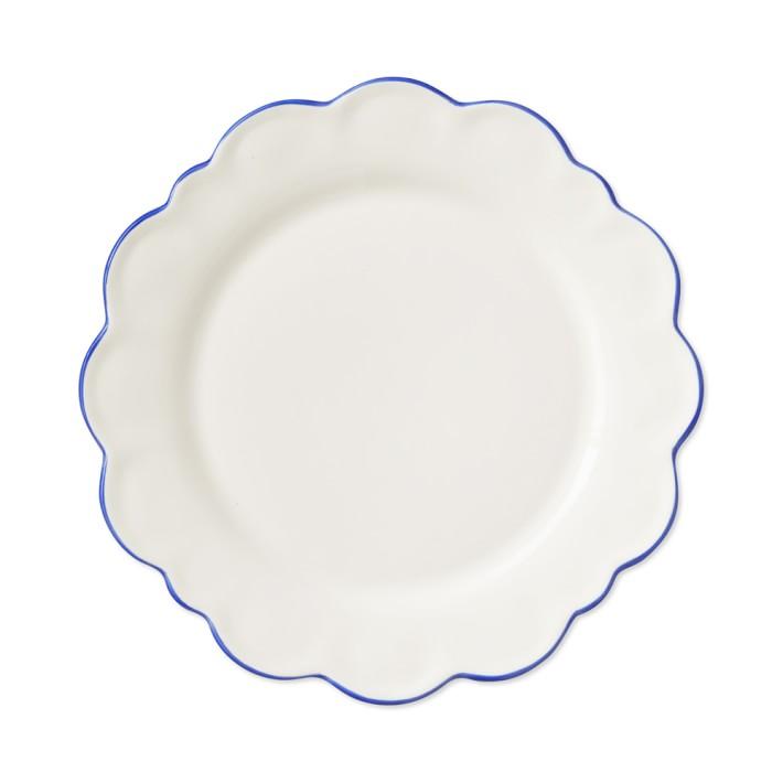 scalloped salad plate  - $39 (set of 4)