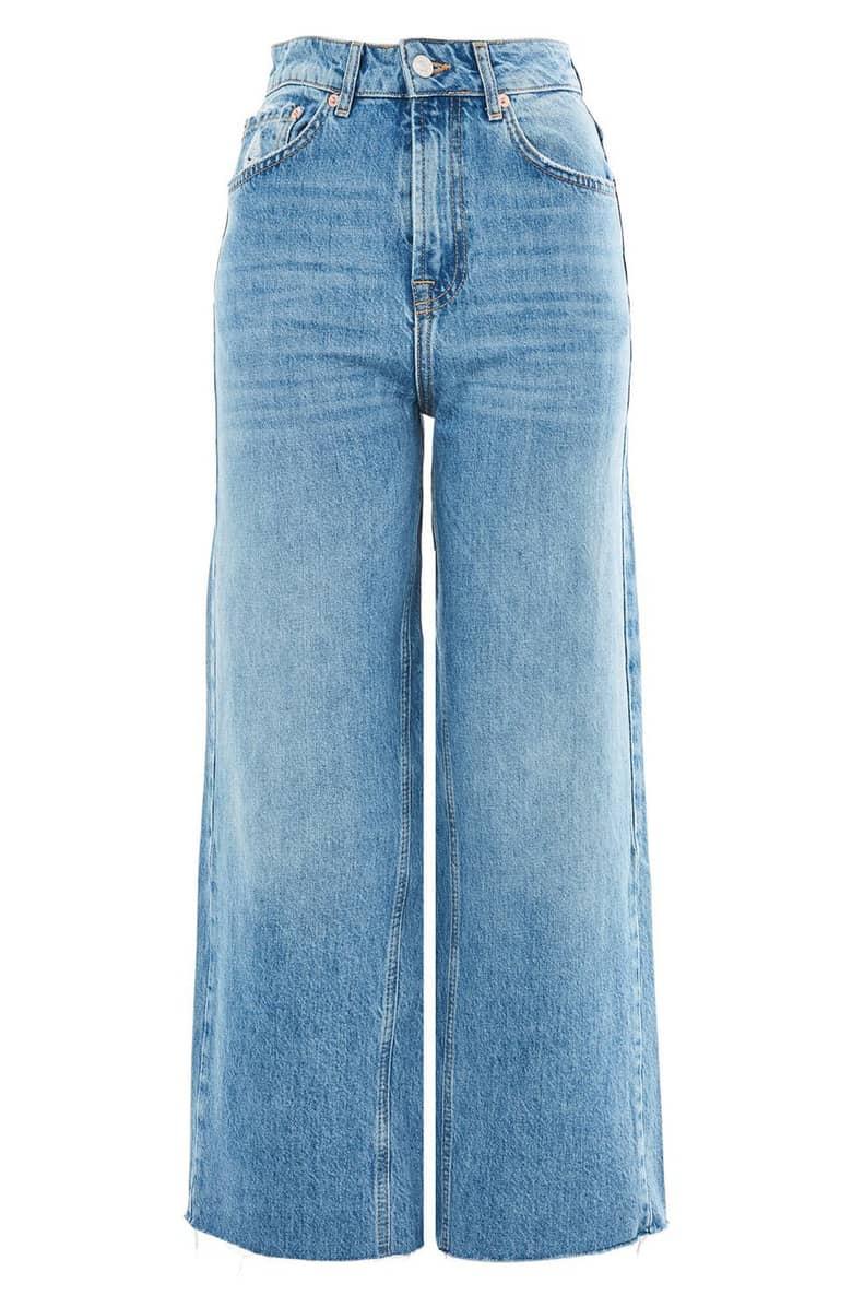 wide-leg cropped jeans  - $37