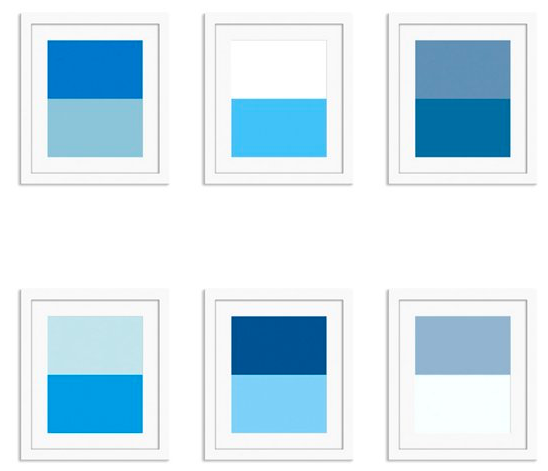 """looking to add color to your walls? Check out our  """"Shades of blue""""  color study collection!"""