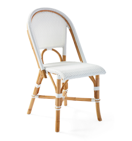 how darling are these  rattan bistro chairs ?