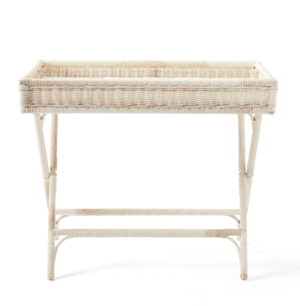 we think this  wicker bar cart  is just the sweetest