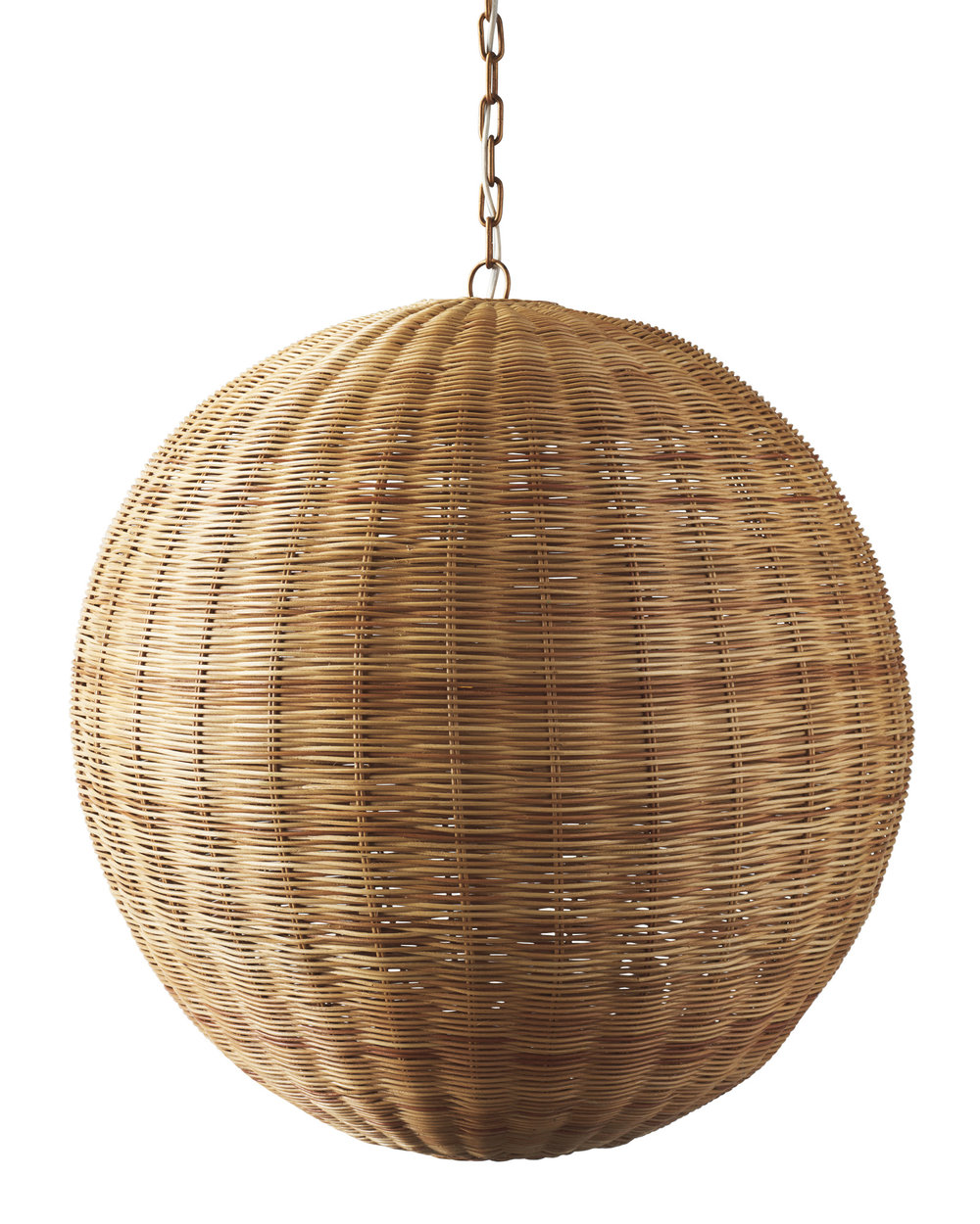 add warmth to any room with this  woven pendant