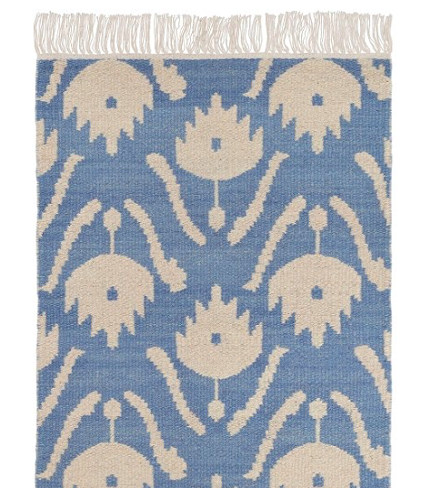 our very own  ikat floral rug  from our collaboration with Dash & Albert, by Annie selke!