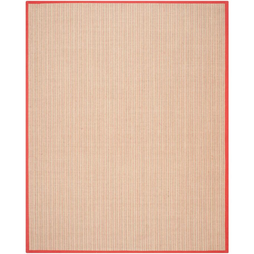 we're big fans of a  natural rug  with an accent of color