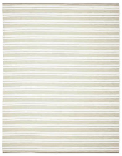 we're smitten with stripes and love this  timeless rug
