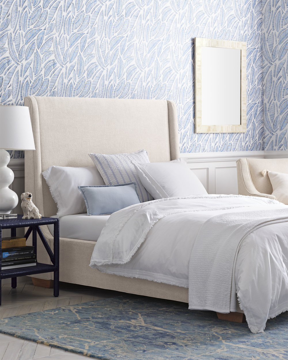 how amazing would this  modern sleigh bed  look in a stripe?